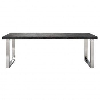 Table à dîner Blackbone silver 220 Meuble Déco Tendance - 526