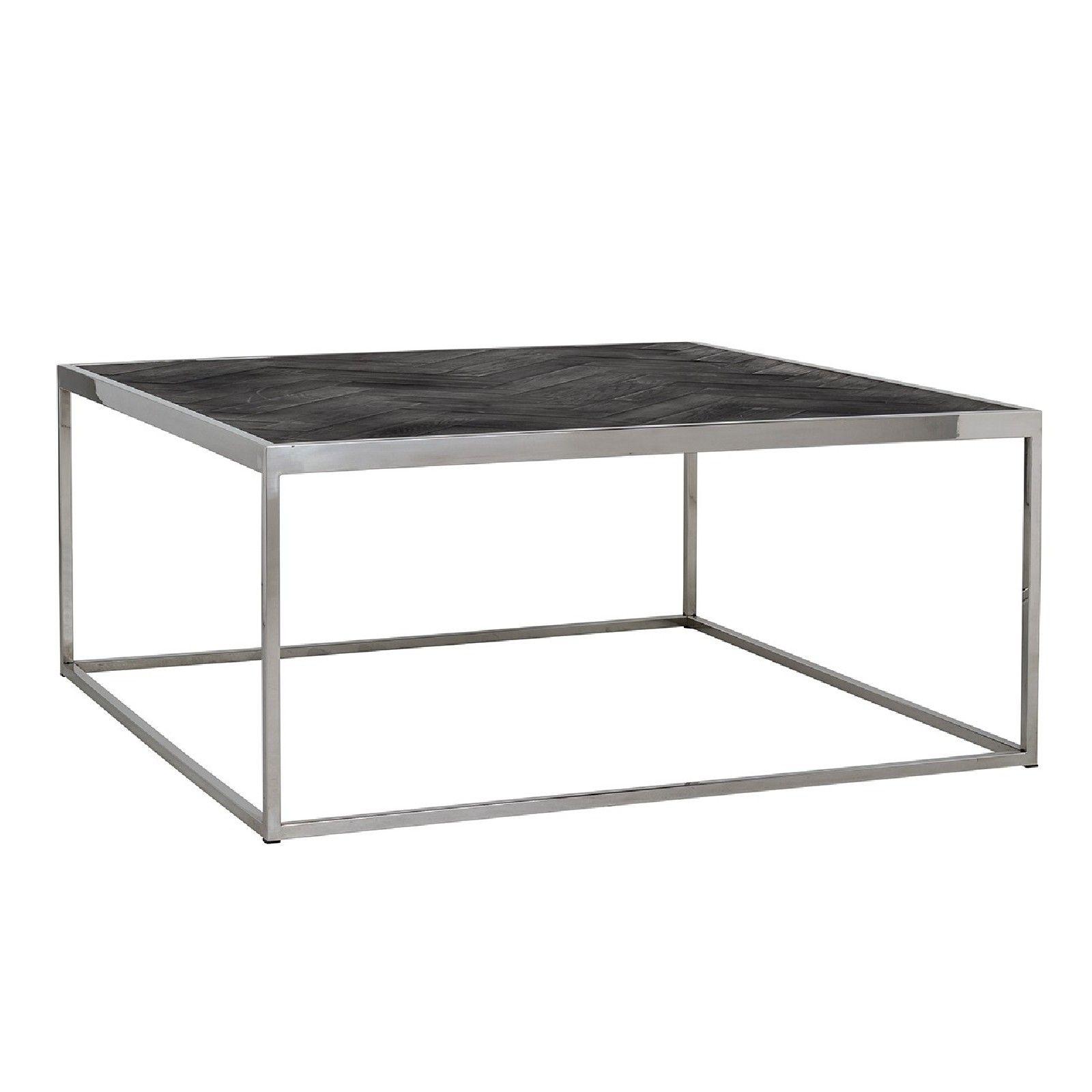Table de salon Blackbone silver 90x90 Tables basses rectangulaires - 96
