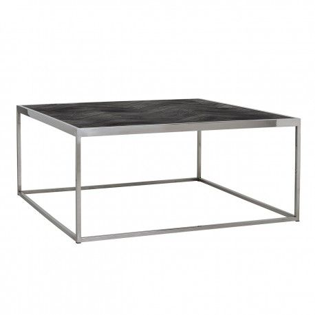 Table de salon Blackbone silver 90x90