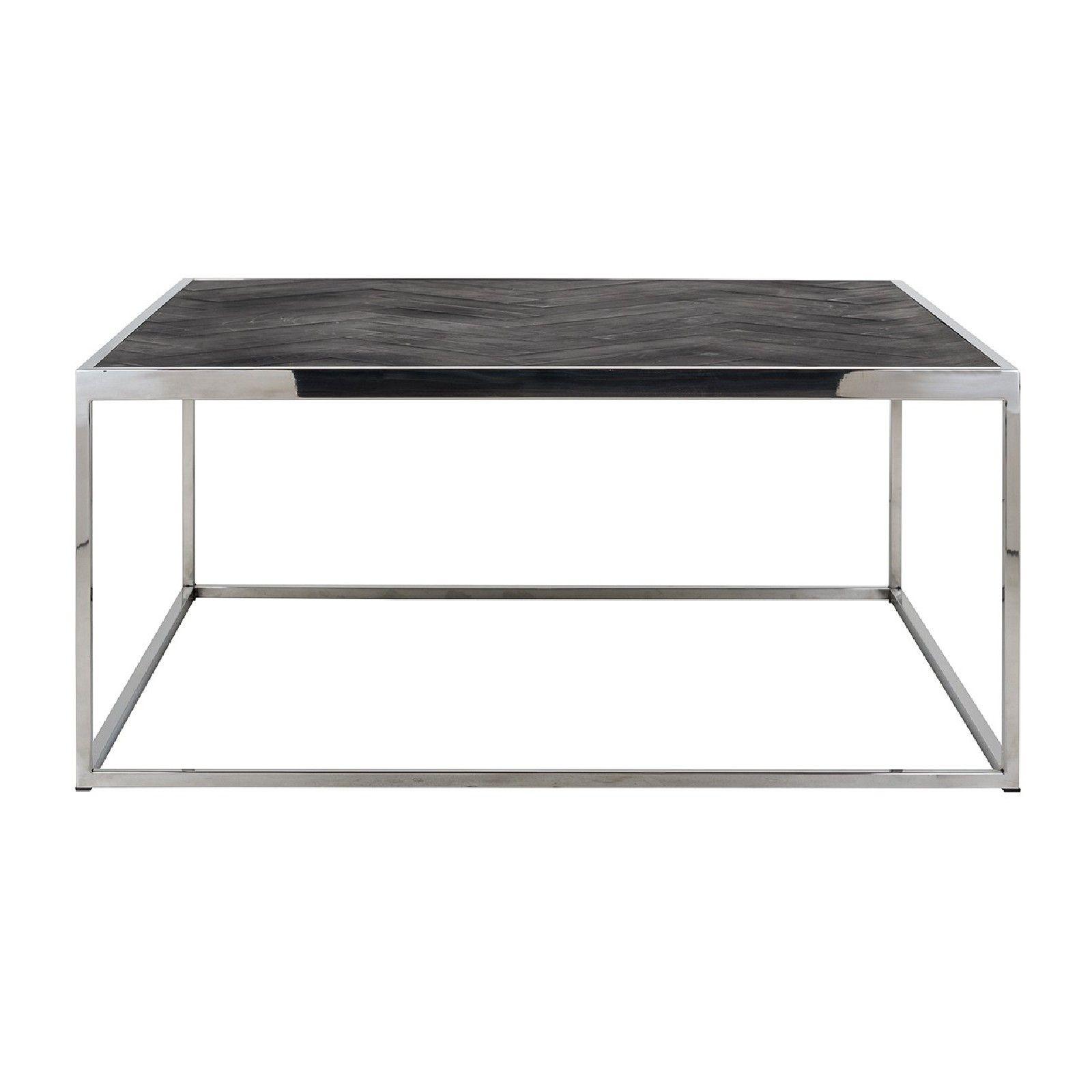 Table de salon Blackbone silver 90x90 Tables basses rectangulaires - 327