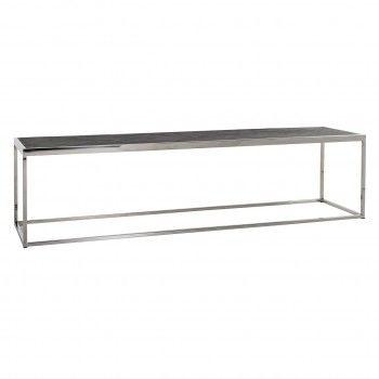 Table de salon Blackbone silver 160x40 Tables basses rectangulaires - 9