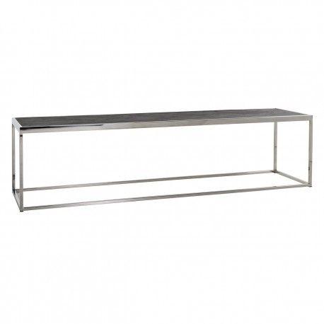 Table de salon Blackbone silver 160x40