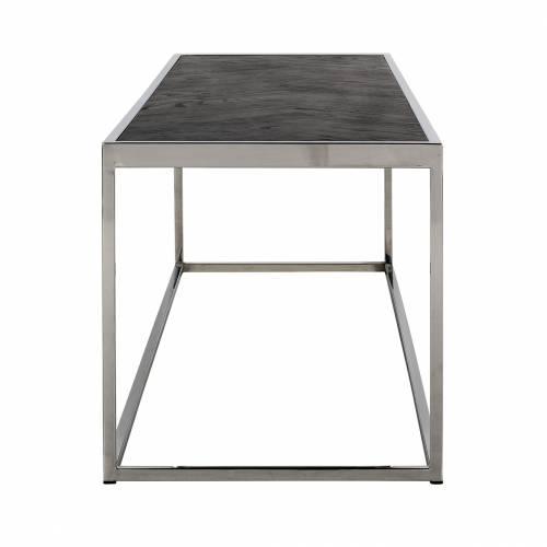 Table de salon Blackbone silver 160x40 Tables basses rectangulaires - 248