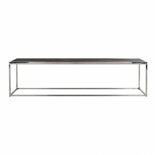 Table de salon Blackbone silver 160x40 Tables basses rectangulaires - 642