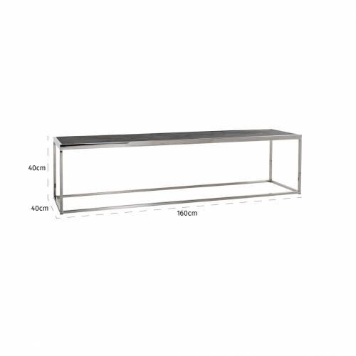 Table de salon Blackbone silver 160x40 Tables basses rectangulaires - 760