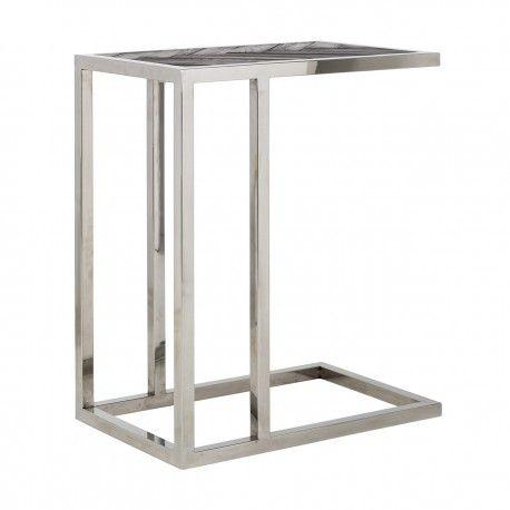 Table d'appoint Blackbone silver