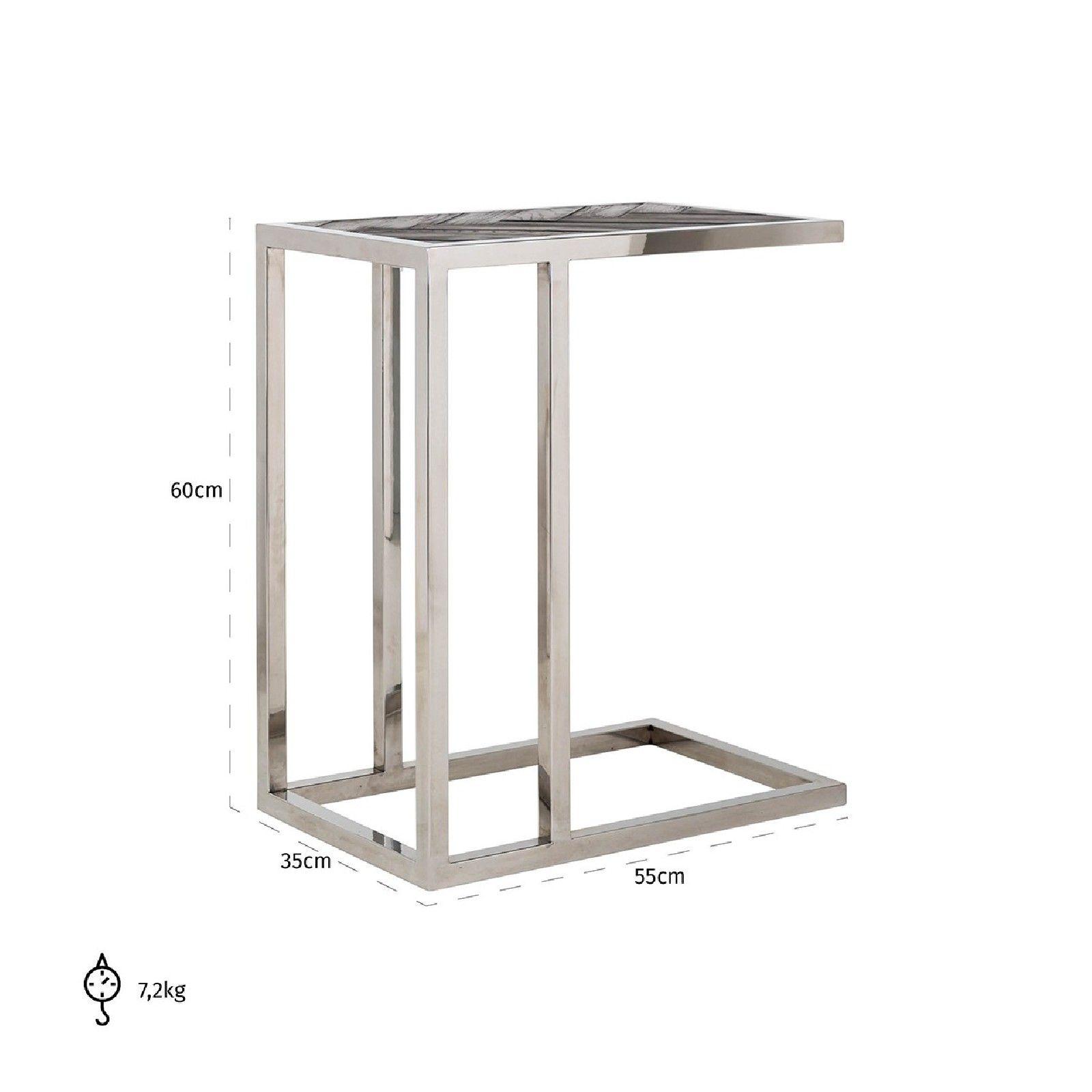 Table d'appoint Blackbone silver Meuble Déco Tendance - 737