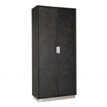 Présentoir Blackbone silver avec 2-portes Meuble Déco Tendance - 48