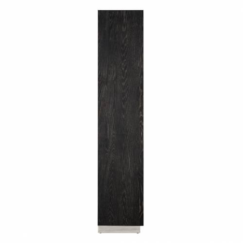 Présentoir Blackbone silver avec 2-portes Meuble Déco Tendance - 281