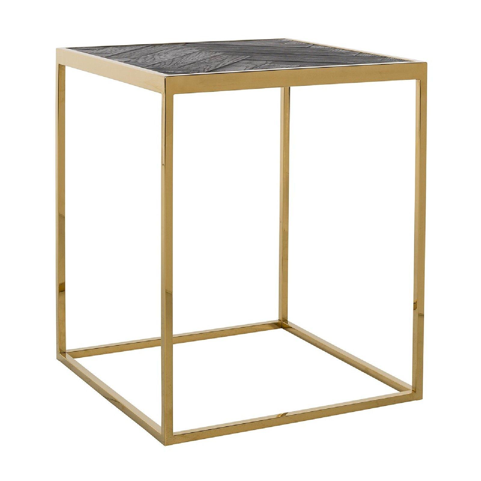 Table d'angle Blackbone gold 50x50 Meuble Déco Tendance - 57