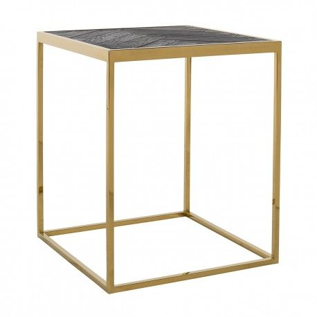 Table d'angle Blackbone gold 50x50