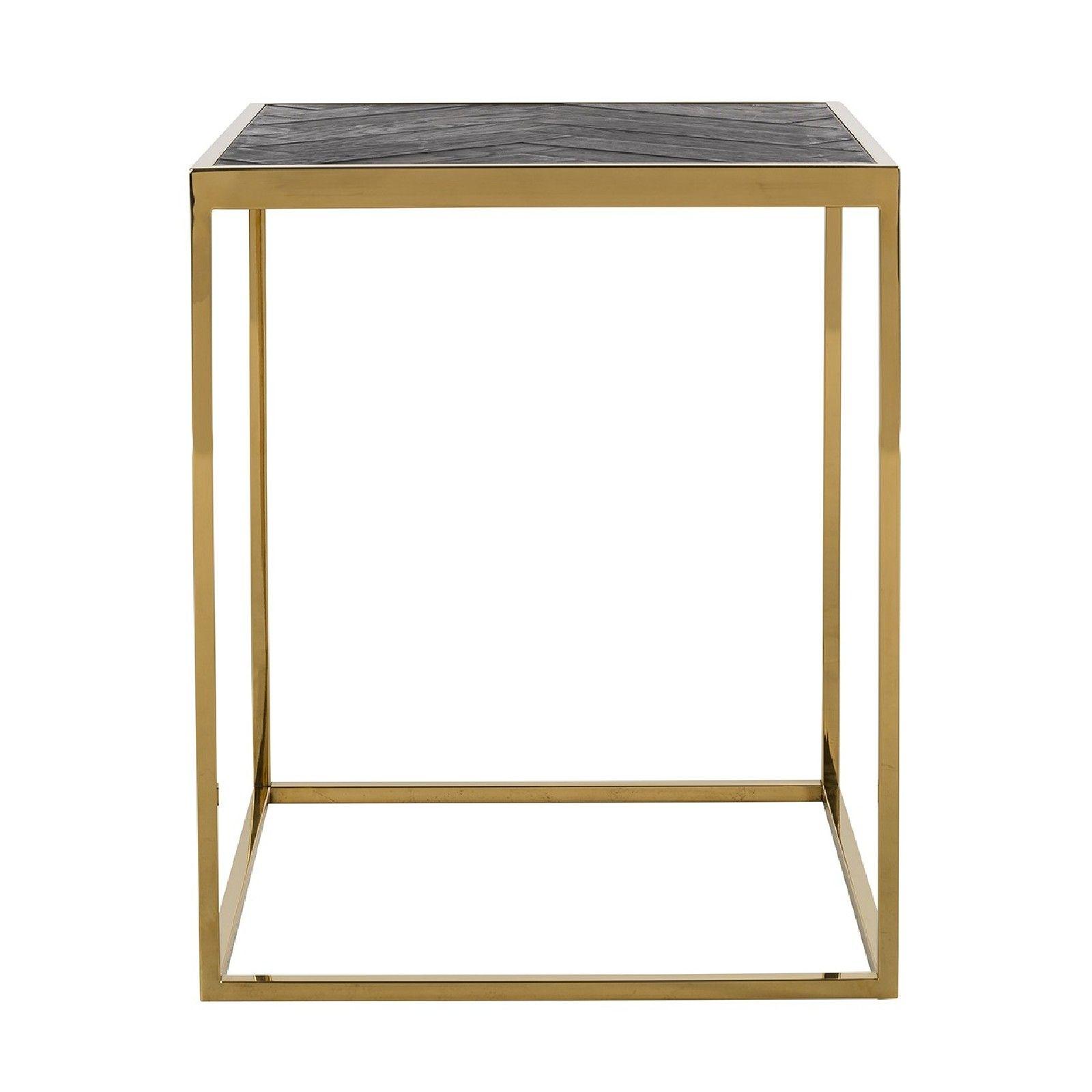 Table d'angle Blackbone gold 50x50 Meuble Déco Tendance - 501