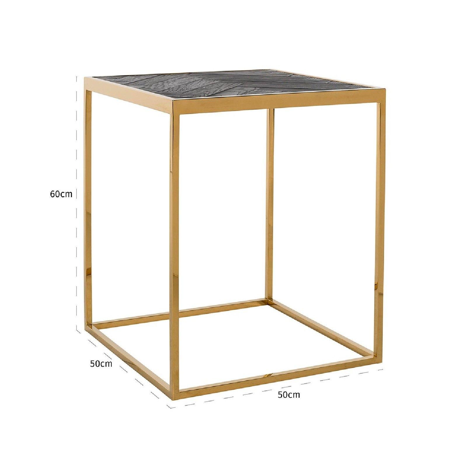 Table d'angle Blackbone gold 50x50 Meuble Déco Tendance - 673