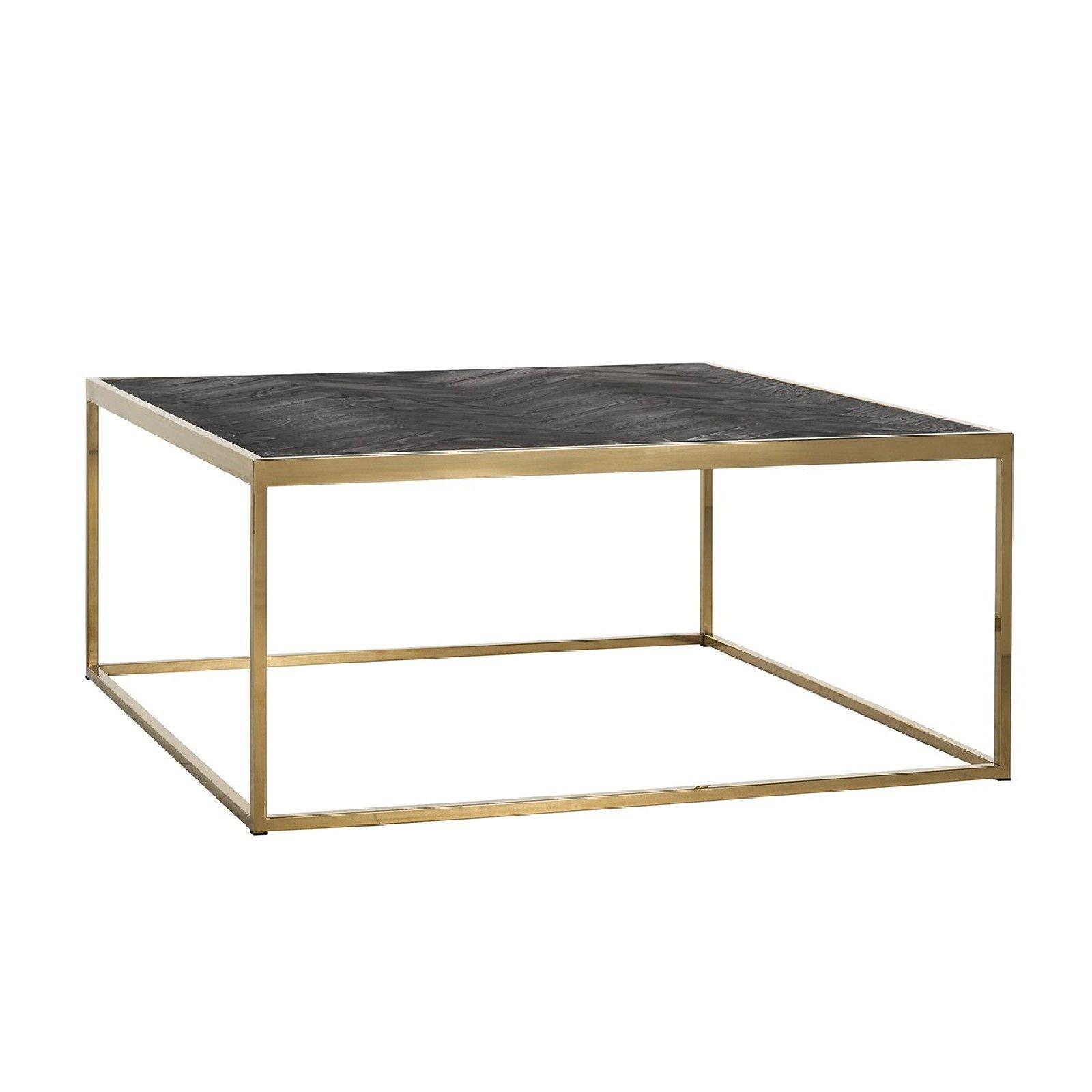 Table de salon Blackbone gold 90x90 Tables basses rectangulaires - 190