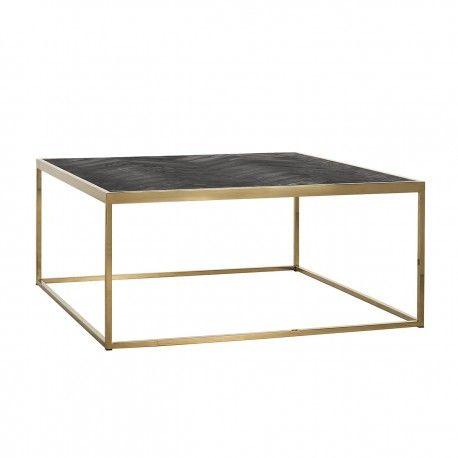 Table de salon Blackbone gold 90x90