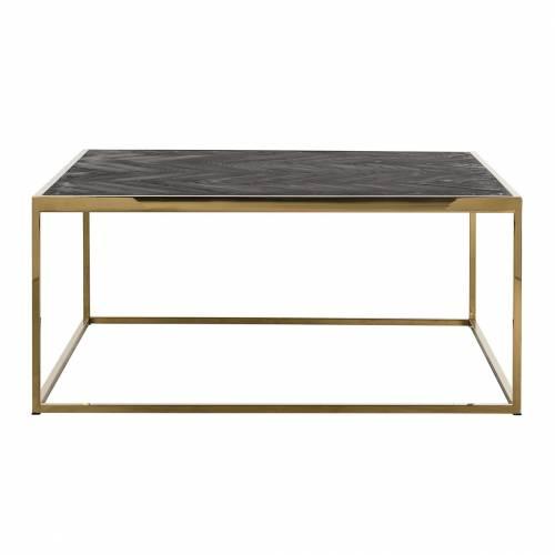 Table de salon Blackbone gold 90x90 Tables basses rectangulaires - 442
