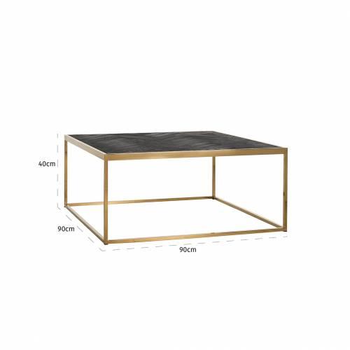 Table de salon Blackbone gold 90x90 Tables basses rectangulaires - 630