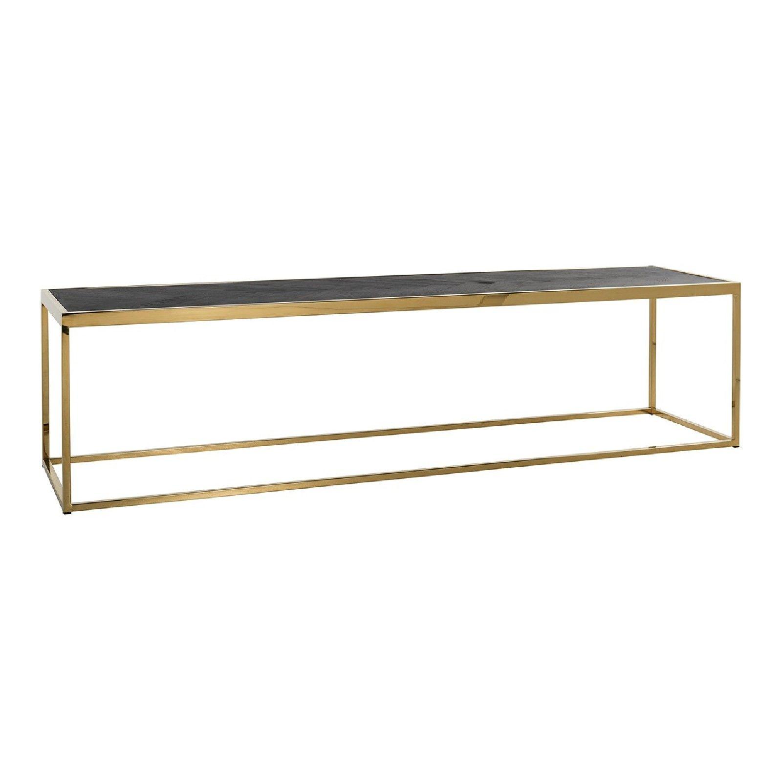 Table de salon Blackbone gold 160x40 Tables basses rectangulaires - 117