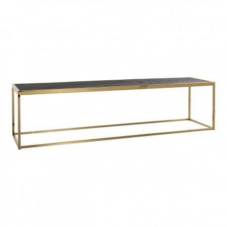 Table de salon Blackbone gold 160x40