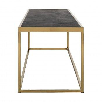 Table de salon Blackbone gold 160x40 Tables basses rectangulaires - 341