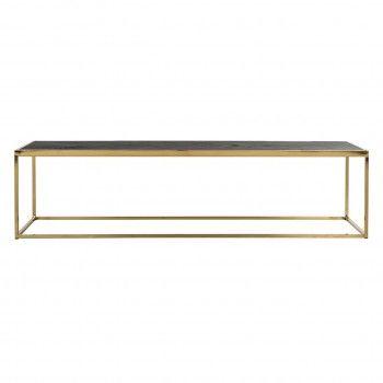 Table de salon Blackbone gold 160x40 Tables basses rectangulaires - 706