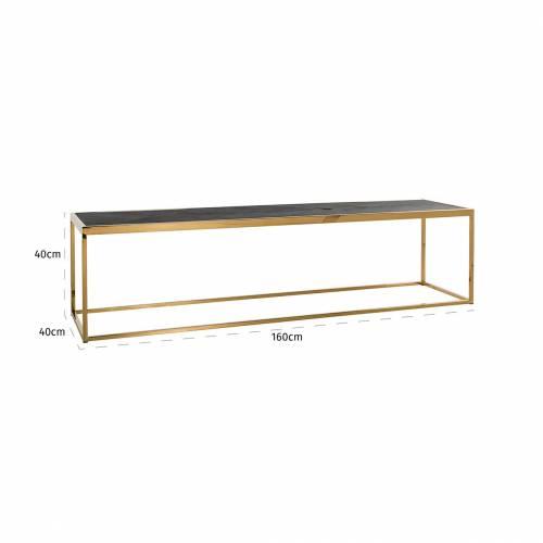 Table de salon Blackbone gold 160x40 Tables basses rectangulaires - 721
