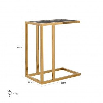 Table d'appoint Blackbone gold Meuble Déco Tendance - 762