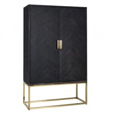 Présentoir Blackbone gold avec 2-portes