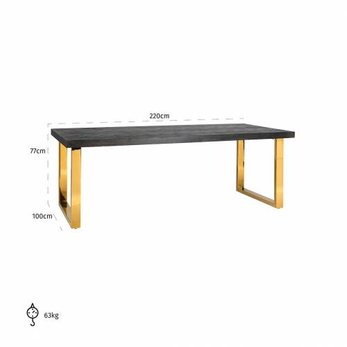 Table à dîner Blackbone gold 220 Meuble Déco Tendance - 668