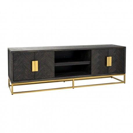 Meuble TV 185 Blackbone gold 4-portes