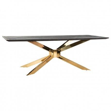 Table à dîner Blackbone Matrix gold 200x100