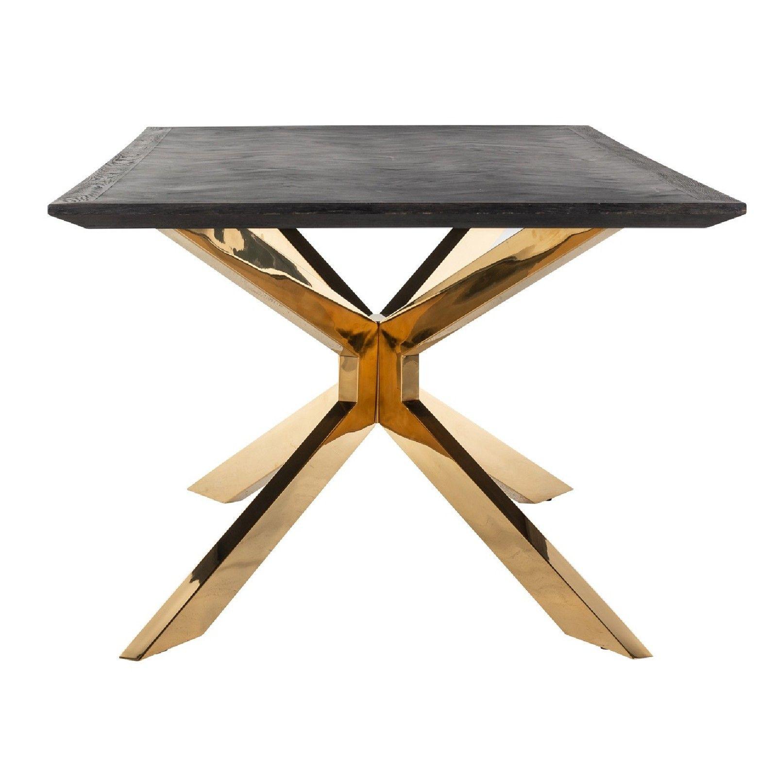 Table à dîner Blackbone Matrix gold 200x100 Meuble Déco Tendance - 369