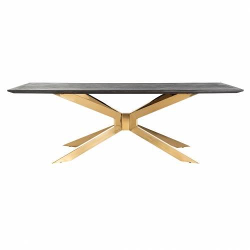 Table à dîner Blackbone Matrix gold 200x100 Meuble Déco Tendance - 594