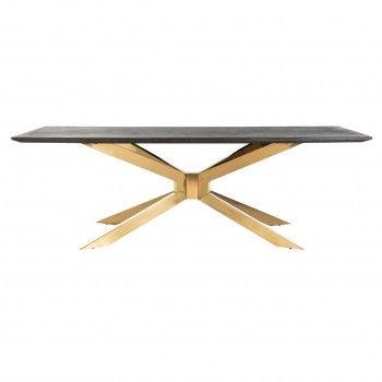 Table à dîner Blackbone Matrix gold 240x100 Meuble Déco Tendance - 4