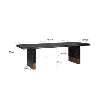 Table à dîner Hunter 260x100 Meuble Déco Tendance - 666