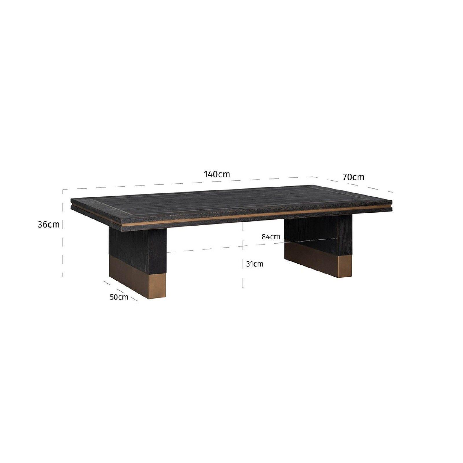 Table de salon Hunter 140x70 Tables basses rectangulaires - 746