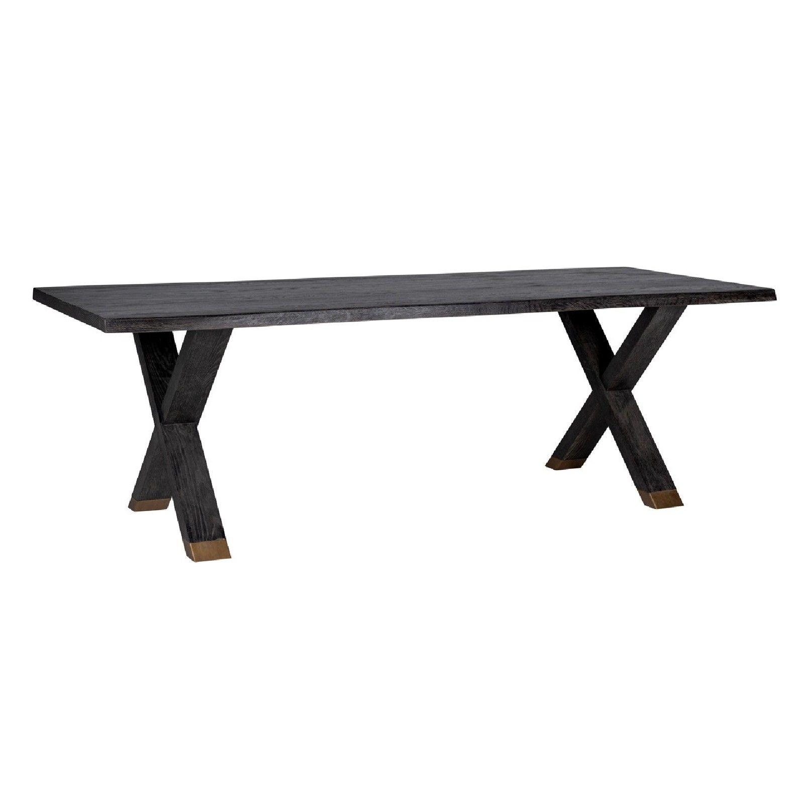 Table à dîner Hunter pieds croisés 200x100 Meuble Déco Tendance - 11