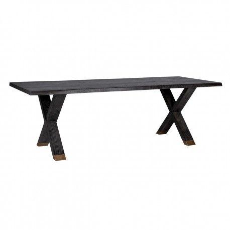 Table à dîner Hunter pieds croisés 200x100