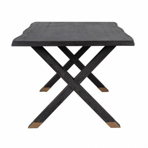 Table à dîner Hunter pieds croisés 200x100 Meuble Déco Tendance - 250