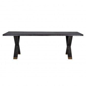 Table à dîner Hunter pieds croisés 200x100 Meuble Déco Tendance - 464