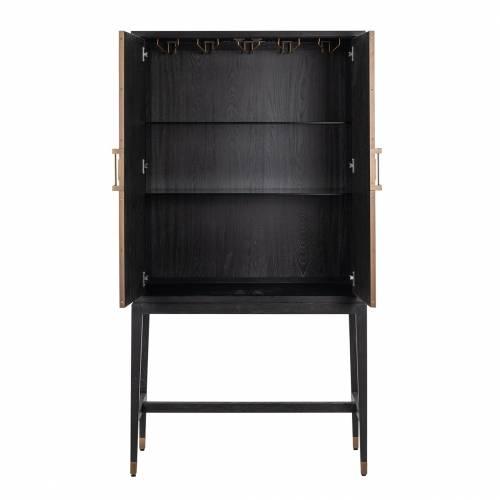 Armoire de bar Bloomingville avec 2-portes shagreen Meuble Déco Tendance - 725