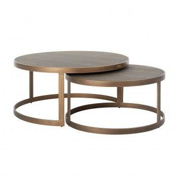 Table de salon Bloomingville set de 2 rond shagreen Tables basses rectangulaires - 183