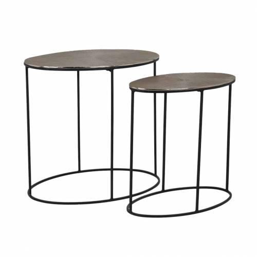Table Jude set de 2 ovale Meuble Déco Tendance - 201