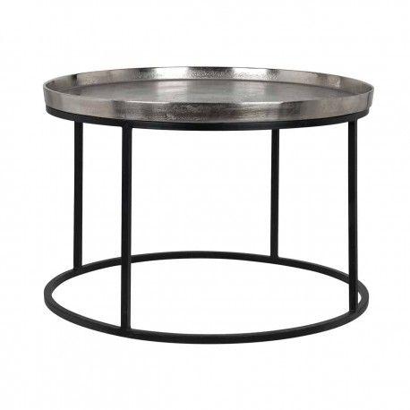 Table Lyam aluminium silver 70Ø
