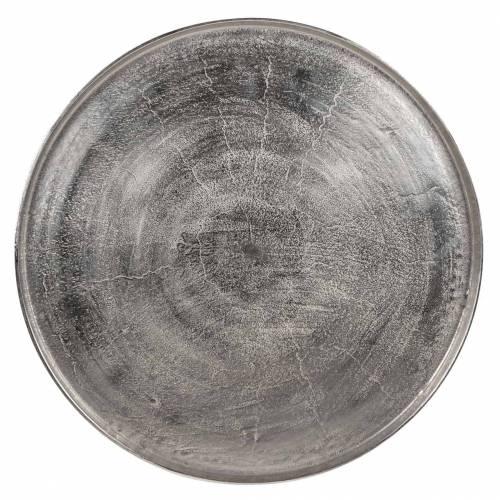 Table Lyam aluminium silver 70Ø Meuble Déco Tendance - 331
