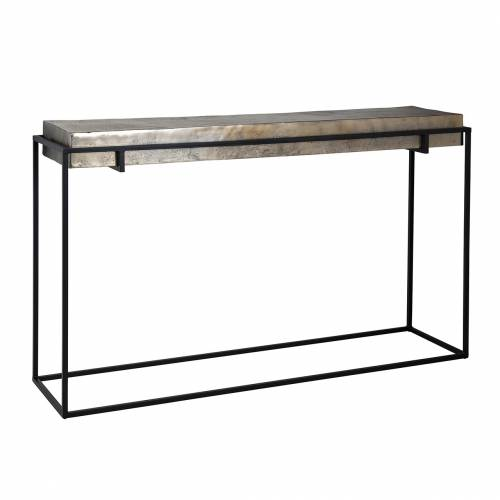 Console Calloway champagne or Meuble Déco Tendance - 179