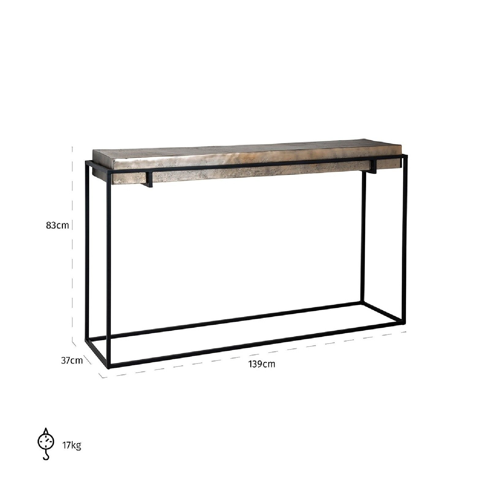 Console Calloway champagne or Meuble Déco Tendance - 744