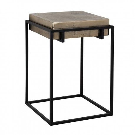Table d'appoint Calloway champagne or