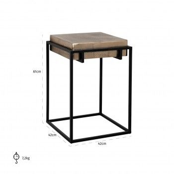 Table d'appoint Calloway champagne or Meuble Déco Tendance - 595