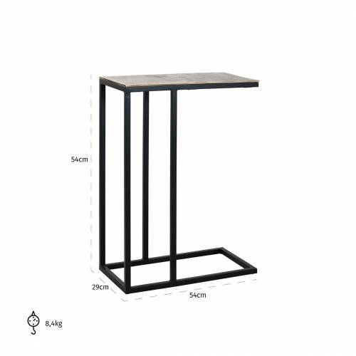 Table d'appoint Calloway champagne or Meuble Déco Tendance - 761